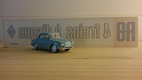 Renault r8 vitrophanies 4 disques