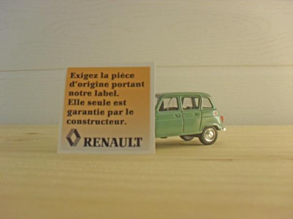 Renault 4 L exigez la pièce d'origine