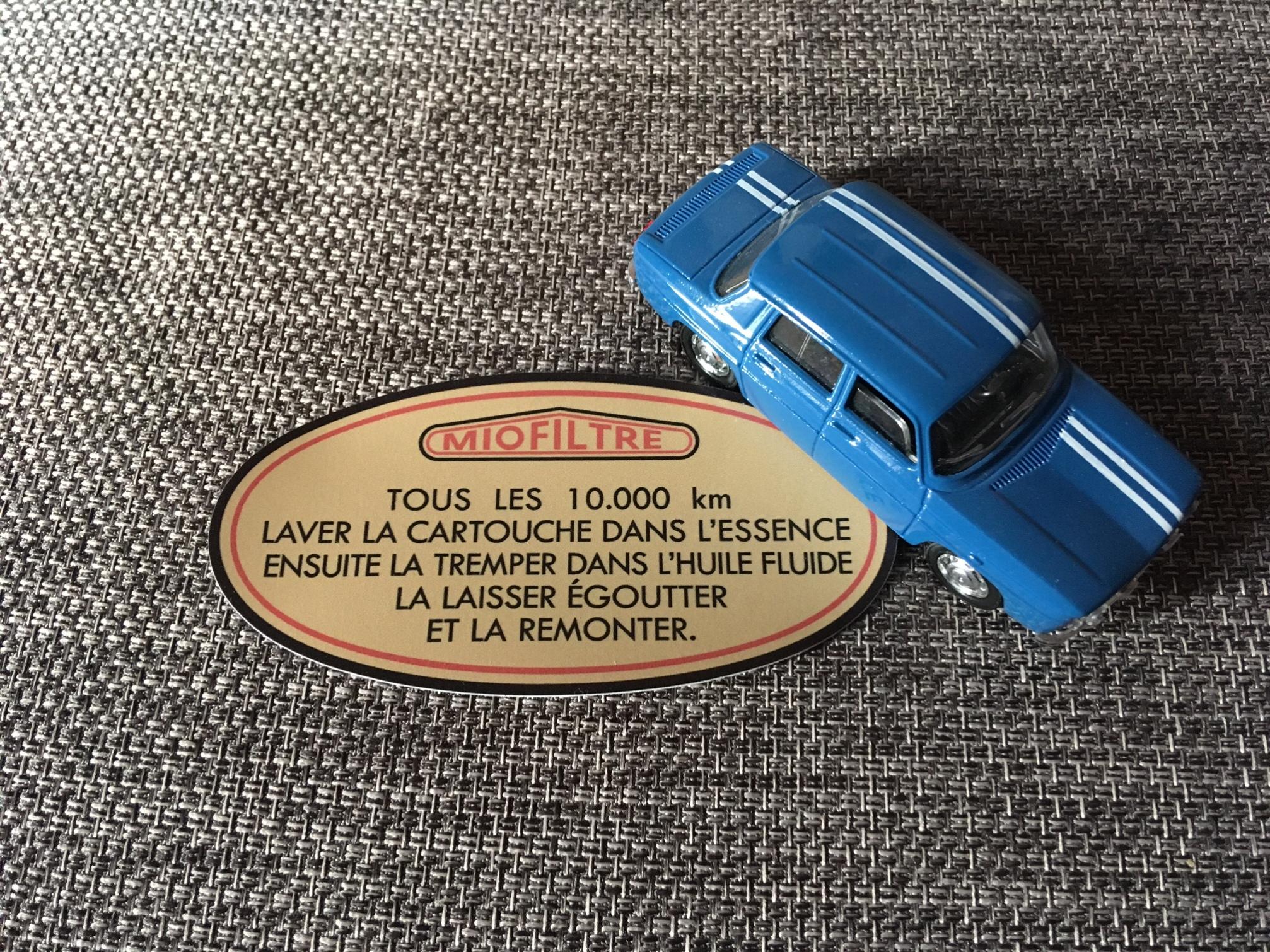 Autocollant Miofiltre pour Renault 8 Gordini
