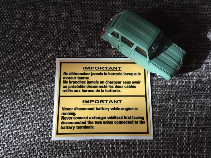 Autocollant pour batterie batterie r4-r16