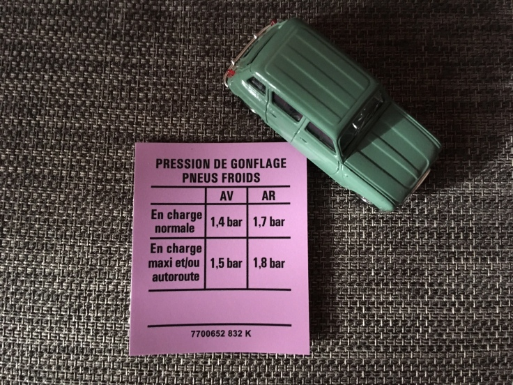 pression pneu pour R4
